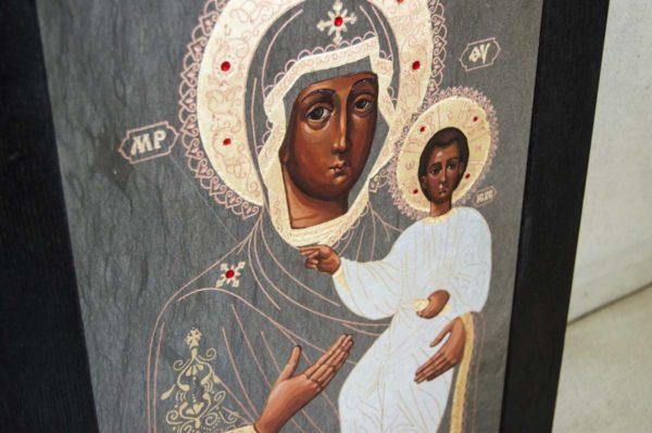 Икона Смоленской Божией Матери № 1-01 подарочная из мрамора, камня, изображение, фото 5