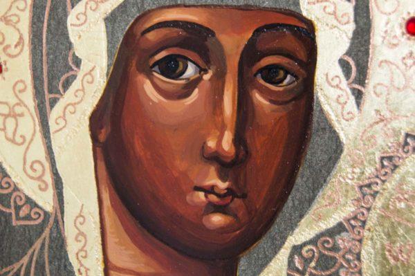 Икона Смоленской Божией Матери № 1-01 подарочная из мрамора, камня, изображение, фото 6