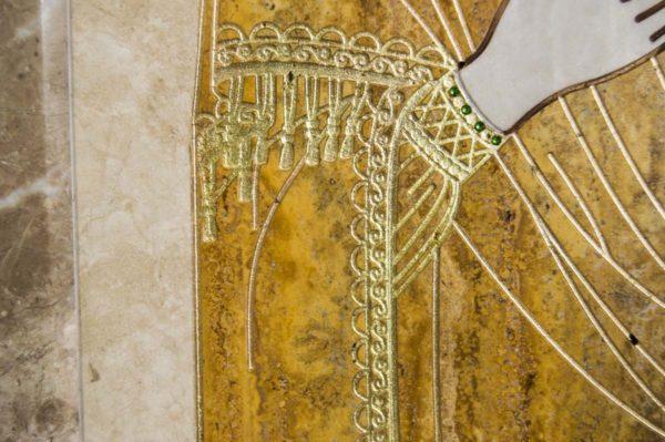 Икона Смоленской Божией Матери № 1-12-1 подарочная из мрамора, камня, изображение, фото 4