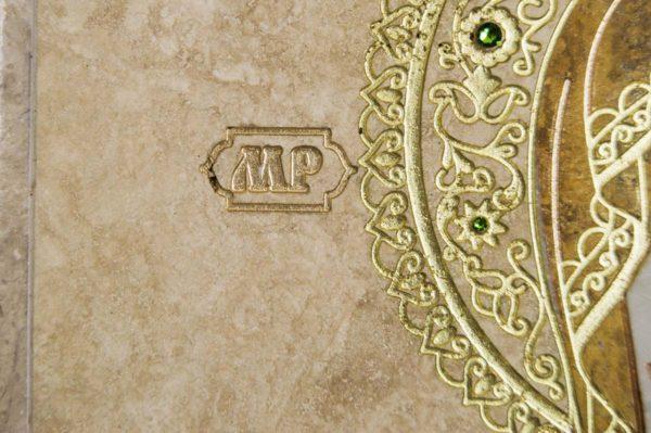 Икона Смоленской Божией Матери № 1-12-1 подарочная из мрамора, камня, изображение, фото 5