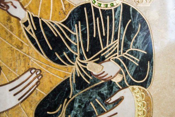 Икона Смоленской Божией Матери № 1-12-1 подарочная из мрамора, камня, изображение, фото 6