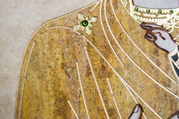Икона Смоленской Божией Матери № 1-12-1 подарочная из мрамора, камня, изображение, фото 9