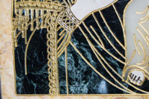 Икона Смоленской Божией Матери № 2-12-1 подарочная из мрамора, камня, изображение, фото 6