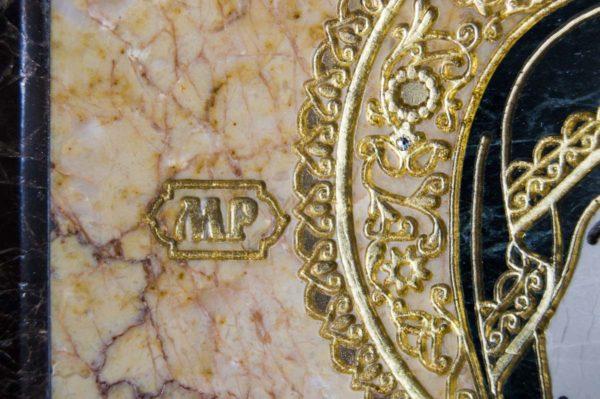 Икона Смоленской Божией Матери № 2-12-1 подарочная из мрамора, камня, изображение, фото 7