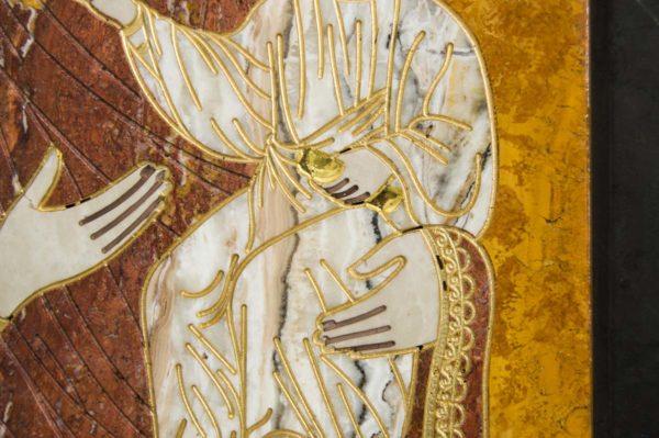 Икона Смоленской Божией Матери № 1-12-3 подарочная из мрамора, камня, изображение, фото 6