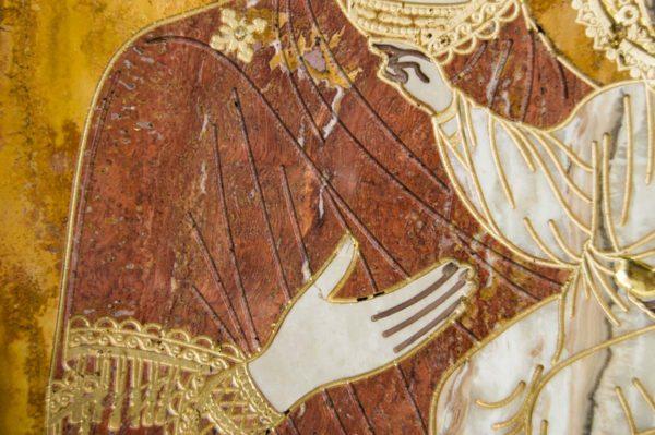 Икона Смоленской Божией Матери № 1-12-3 подарочная из мрамора, камня, изображение, фото 7