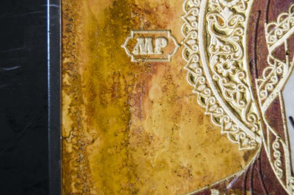 Икона Смоленской Божией Матери № 1-12-3 подарочная из мрамора, камня, изображение, фото 8