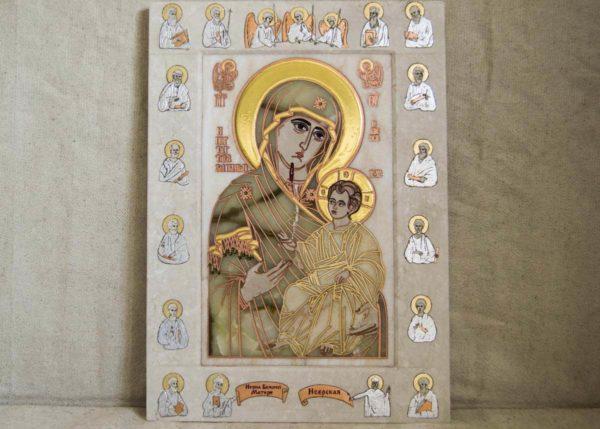 Икона Иверской Божией Матери Без № 2 из мрамора, камня, от Гливи, фото 7