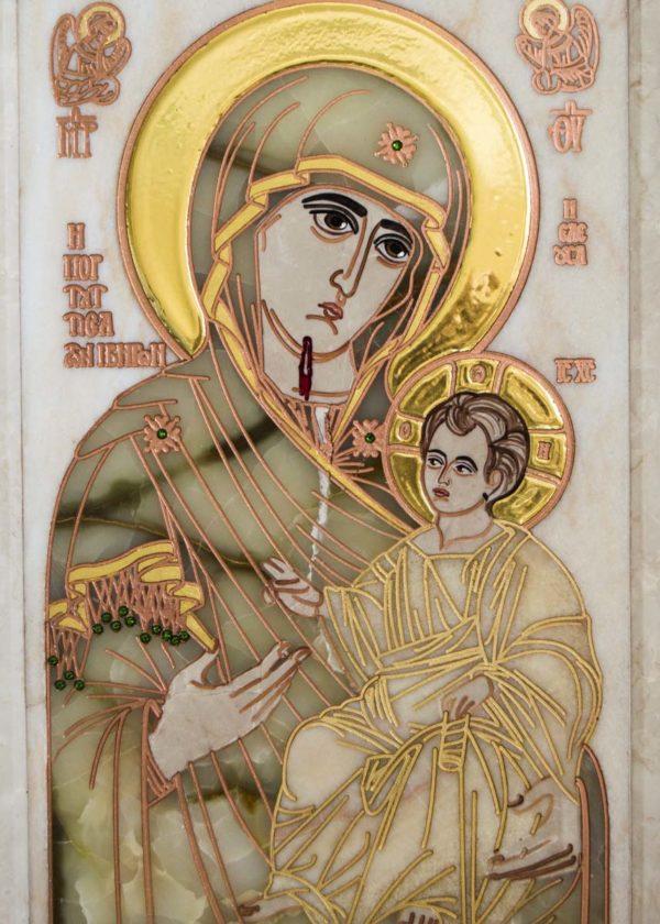 Икона Иверской Божией Матери Без № 2 из мрамора, камня, от Гливи, фото 6
