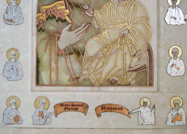 Икона Иверской Божией Матери Без № 2 из мрамора, камня, от Гливи, фото 5