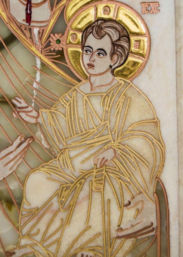 Икона Иверской Божией Матери Без № 2 из мрамора, камня, от Гливи, фото 4