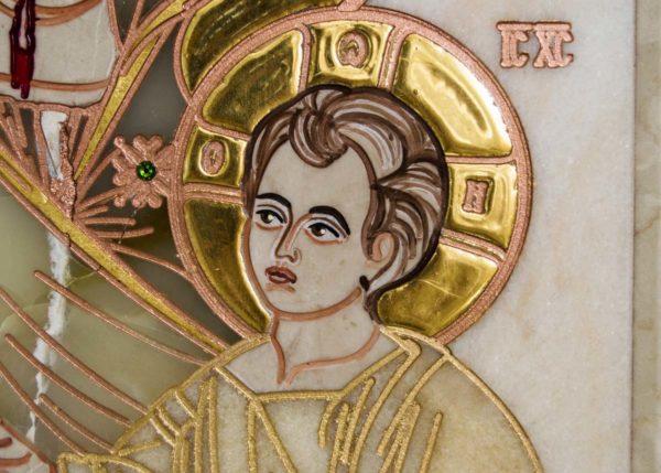 Икона Иверской Божией Матери Без № 2 из мрамора, камня, от Гливи, фото 3