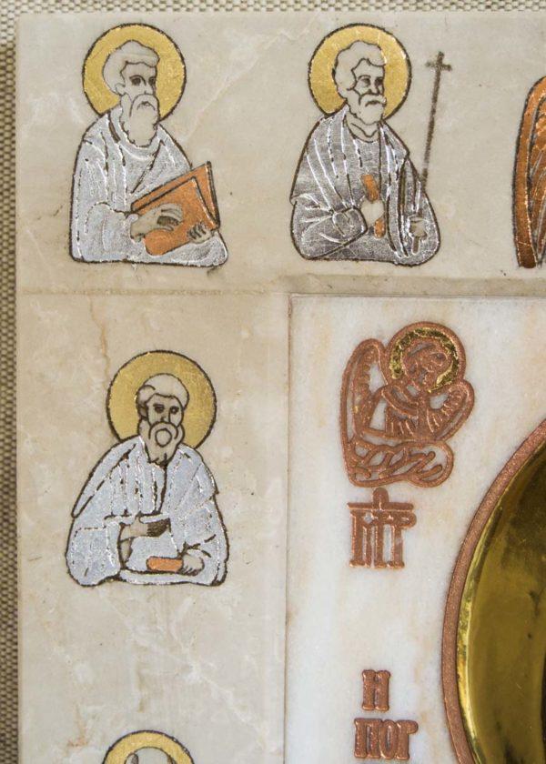 Икона Иверской Божией Матери Без № 2 из мрамора, камня, от Гливи, фото 1