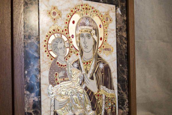 Икона Божией Матери Троеручица № 2-12-2 из мрамора, камня, изображение, фото 6
