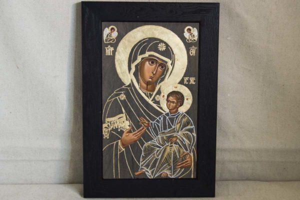 Икона Иверской Божией Матери № 1-3 из мрамора, камня, от Гливи, фото 2