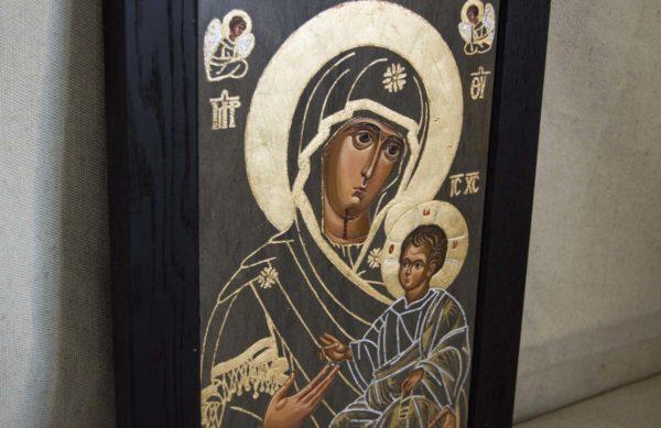 Икона Иверской Божией Матери № 1-3 из мрамора, камня, от Гливи, фото 1