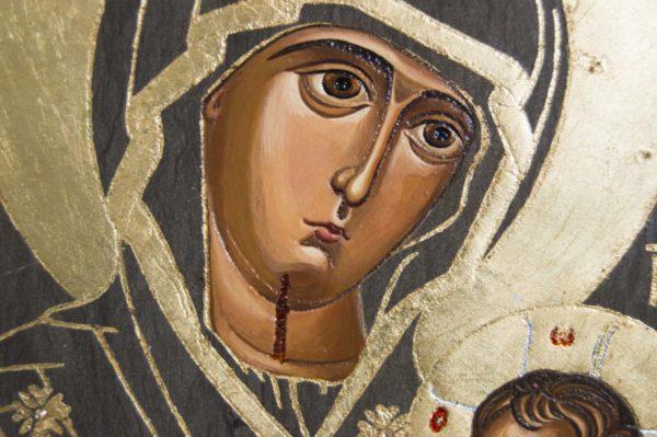 Икона Иверской Божией Матери № 1-3 из мрамора, камня, от Гливи, фото 3