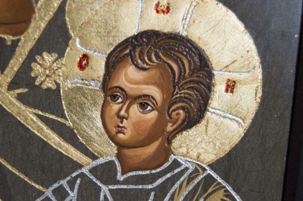 Икона Иверской Божией Матери № 1-3 из мрамора, камня, от Гливи, фото 5