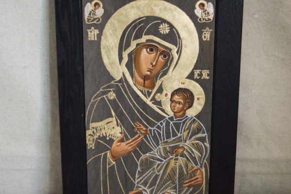 Икона Иверской Божией Матери № 1-3 из мрамора, камня, от Гливи, фото 6
