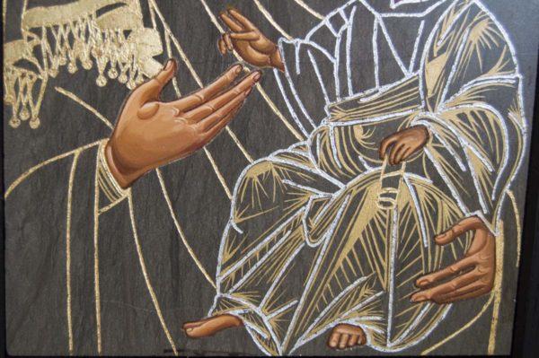 Икона Иверской Божией Матери № 1-3 из мрамора, камня, от Гливи, фото 4