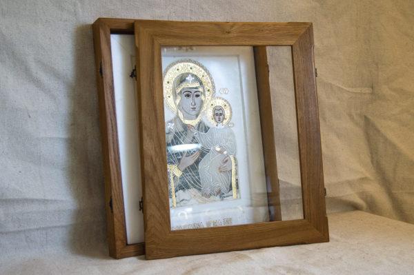 Икона Смоленской Божией Матери № 1-12-8 подарочная из мрамора, камня, изображение, фото 2