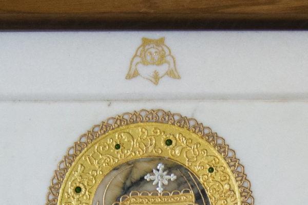 Икона Смоленской Божией Матери № 1-12-8 подарочная из мрамора, камня, изображение, фото 6