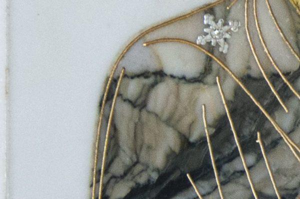 Икона Смоленской Божией Матери № 1-12-8 подарочная из мрамора, камня, изображение, фото 8