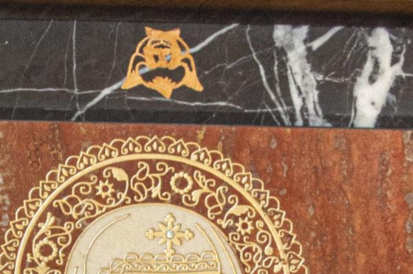Икона Смоленской Божией Матери № 1-12-7 подарочная из мрамора, камня, изображение, фото 4