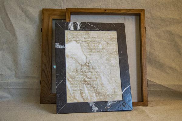 Икона Смоленской Божией Матери № 1-12-7 подарочная из мрамора, камня, изображение, фото 6