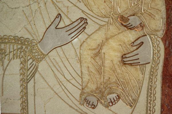 Икона Смоленской Божией Матери № 1-12-7 подарочная из мрамора, камня, изображение, фото 7