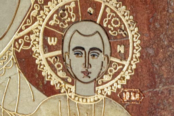 Икона Смоленской Божией Матери № 1-12-7 подарочная из мрамора, камня, изображение, фото 8