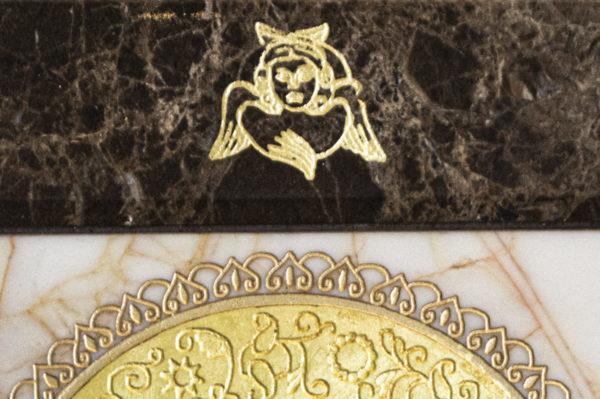 Икона Смоленской Божией Матери № 1-12-9 подарочная из мрамора, камня, изображение, фото 6