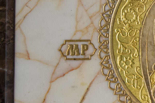 Икона Смоленской Божией Матери № 1-12-9 подарочная из мрамора, камня, изображение, фото 7