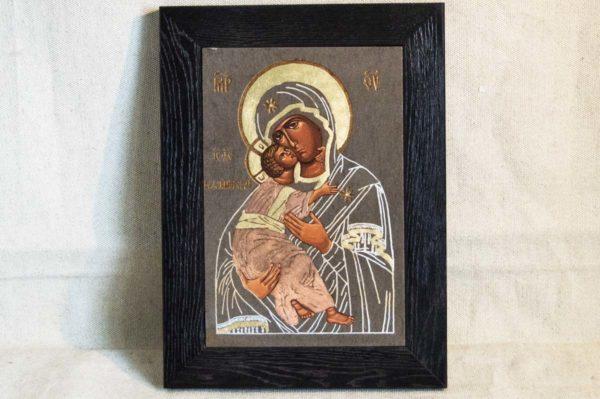 Икона Владимирской Божией Матери № 1-6 из мрамора, камня, от Гливи, фото 1