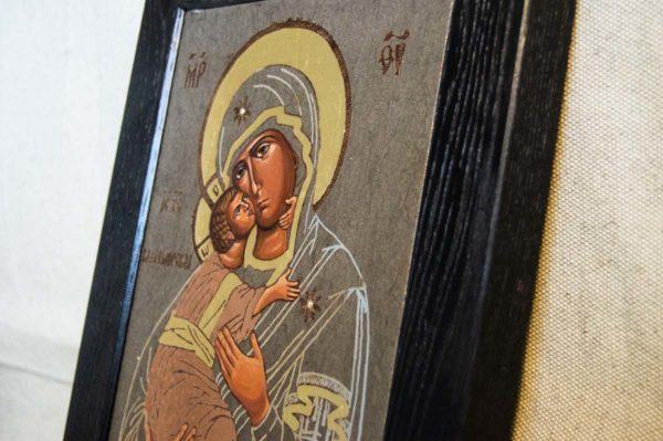 Икона Владимирской Божией Матери № 1-6 из мрамора, камня, от Гливи, фото 4