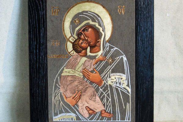 Икона Владимирской Божией Матери № 1-6 из мрамора, камня, от Гливи, фото 5
