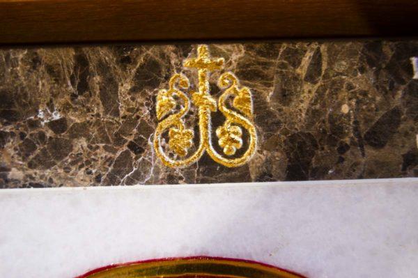Икона Владимирской Божией Матери № 2-12-1 из мрамора, камня, от Гливи, фото 6