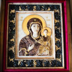 Икона Влахернской Божией Матери № 3 из мрамора, камня, от Гливи, фото 1
