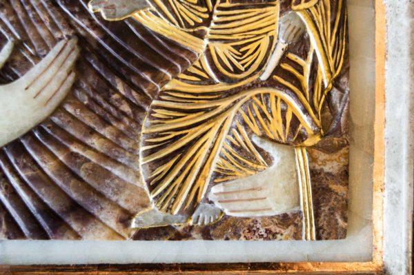Икона Влахернской Божией Матери № 3 из мрамора, камня, от Гливи, фото 3