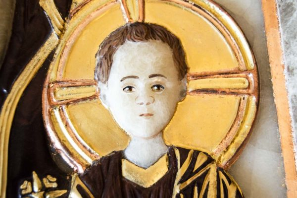Икона Влахернской Божией Матери № 3 из мрамора, камня, от Гливи, фото 5