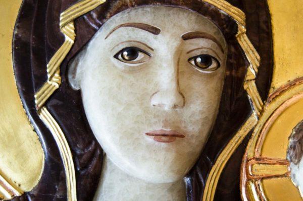 Икона Влахернской Божией Матери № 3 из мрамора, камня, от Гливи, фото 7