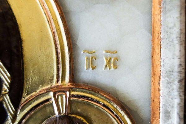 Икона Влахернской Божией Матери № 3 из мрамора, камня, от Гливи, фото 9