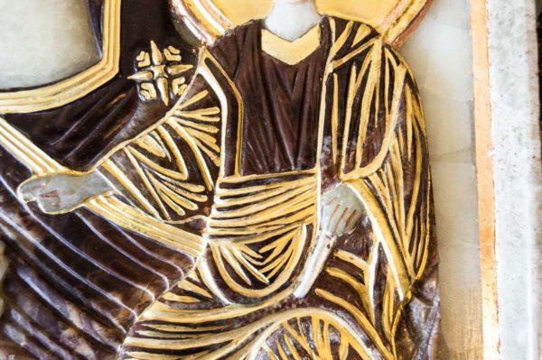 Икона Влахернской Божией Матери № 3 из мрамора, камня, от Гливи, фото 10