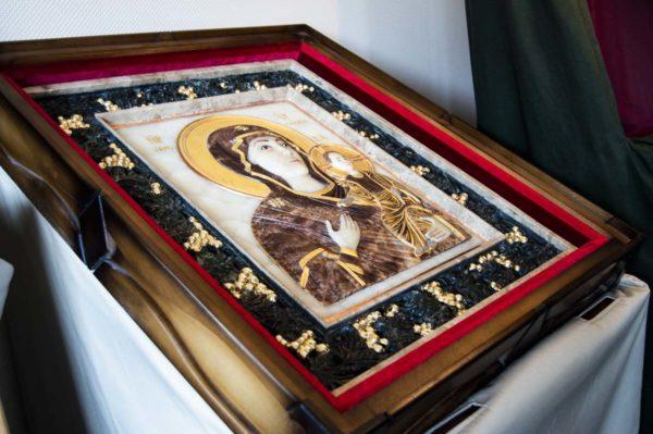 Икона Влахернской Божией Матери № 3 из мрамора, камня, от Гливи, фото 12
