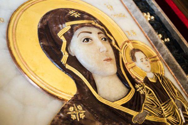 Икона Влахернской Божией Матери № 3 из мрамора, камня, от Гливи, фото 13