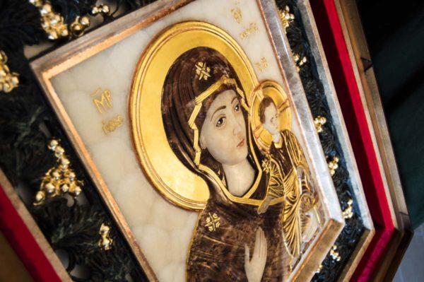Икона Влахернской Божией Матери № 3 из мрамора, камня, от Гливи, фото 14