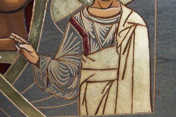 Икона Казанской Божией Матери № 1-10 подарочная из мрамора, камня, от Гливи, фото 3