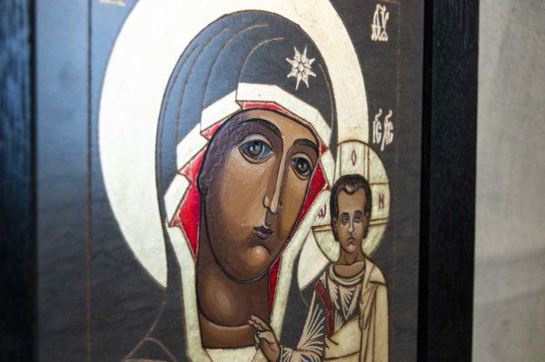 Икона Казанской Божией Матери № 1-10 подарочная из мрамора, камня, от Гливи, фото 4