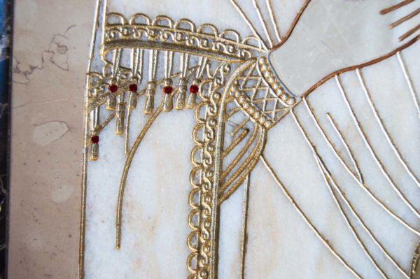 Икона Смоленской Божией Матери № 1-12-6 подарочная из мрамора, камня, изображение, фото 7