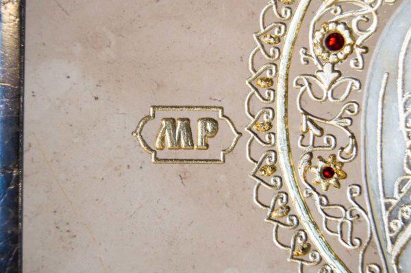 Икона Смоленской Божией Матери № 1-12-6 подарочная из мрамора, камня, изображение, фото 10